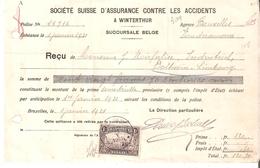 RECU TP. 145 Càd ST.JOSSE TEN NOODE PERFO W.D. (Winterthur) 1/1/1921 - Perforés