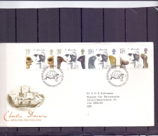 Great Britain - Charles Darwin - FDC - Shrewsbury 10/2/1982  (RM12454) - Célébrités