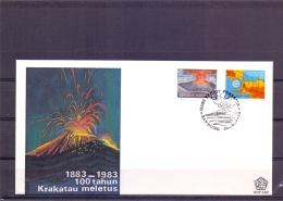 Rep. Indonesia -  Krakatau Meletus  - Bandung 26/8/1983  (RM12480) - Volcanos