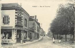 """- Marne -ref-A579- Verzy - Rue De Verzenay - """" A La Parisienne """" - Modes - Rouennerie Roze - Rouenneries - Magasin -etat - Verzy"""