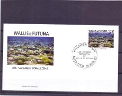 Wallis & Futuna - Les Paysages Coralliens - FDC - Mata-Utu 10/4/2003   (RM12557) - Maritiem Leven