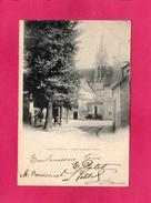 60 OISE, CREPY EN VALOIS, Place Et Eglise St-Denis, Animée, 1902, (Ruelle) - Crepy En Valois