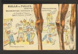 Fantaisie-Militaire - Carte Issue D'un Puzzle - Salle De Police - Guerra 1914-18