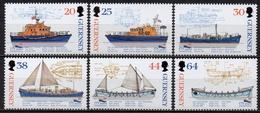 Guernesey - 1999 - Yvert N° 812 à 817 **  - 175 Ans De Sauvetage En Mer - Guernsey