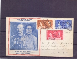 Barbados  -  Pearls - FDC -   14/5/37     (RM12925) - Coquillages