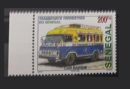 SENEGAL 2002 WITH MARGIN TRANSPORT TERRESTRE TRANSPORTS TERRESTRES CAR BUS RAPIDE  - RARE-  MNH - Senegal (1960-...)