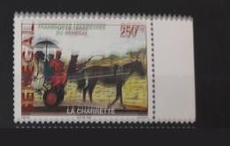 SENEGAL 2002 WITH MARGIN TRANSPORT TERRESTRE TRANSPORTS TERRESTRES CHARRETTE HORSE CHEVAL  - RARE-  MNH - Senegal (1960-...)