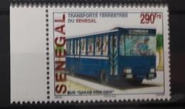 SENEGAL 2002 WITH MARGIN TRANSPORT TERRESTRE TRANSPORTS TERRESTRES BUS DAKAR DEM DIKK  - RARE-  MNH - Senegal (1960-...)