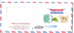 China Registered Airmail Postal History Cover - Covers & Documents