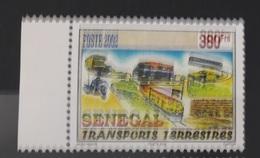 SENEGAL 2002 WITH MARGIN TRANSPORT TERRESTRE TRANSPORTS TERRESTRES BUS CAR VOITURE MOTO MOTOCYCLE   - RARE-  MNH - Senegal (1960-...)
