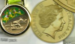 AUSTRALIA $1MOB OF BOXING KANGAROOS RIO COLOURED QEII HEAD 1YEAR TYPE 2016 UNC NOT RELEASED READ DESCRIPTION CAREFULLY!! - Australia
