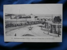 Boulogne Sur Mer  Entrée De La Grande Gare Et Pont De La Liane - Trains - Animée - Ed. BF 50 - Circulée 1907 - R144 - Boulogne Sur Mer