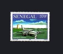 SENEGAL 2006 AERIAL TRANSPORT AERIEN  TRANSPORTS AERIENS AIRCRAFT AVION AIRPLANE 370 F JET HELICE - RARE-  MNH - Senegal (1960-...)