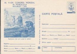 59722- WORLD OIL CONGRESS, OIL ENERGY, POSTCARD STATIONERY, 1979, ROMANIA
