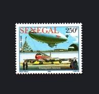 SENEGAL 2006 AERIAL TRANSPORT AERIEN  TRANSPORTS AERIENS AIRCRAFT AVION AIRPLANE 250 F ZEPPELIN ZEPPELINS - RARE-  MNH - Zeppelins