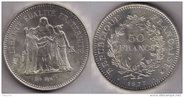 FRANCIA 1977 - MONEDA DE 50 FRANCS DE PLATA (ARGENT)(SILVER) 1977 - Francia