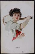 CPA LOVE ALL Illustration De Earl Christy Joueuse De Tennis 1912 - Tennis