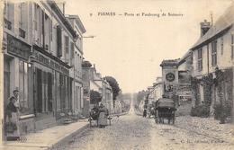 CPA 51 FISMES PORTE ET FAUBOURG DE SOISSONS 1917 - Fismes