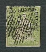 SVIZZERA 1860 - Helvetia Seduta - 40 R. Verde. - Mi:CH 30