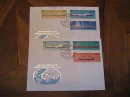BIG GERMAN SHIPS Yvert 2358/63 BERLIN 1962 FDC Cancel 2 Cover DDR GERMANY - Ships