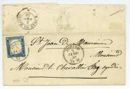 TORINO 1858 Pour SAINT-JEAN-DE MAURIENNE Chevalier Fay Turin Ducruez - Sardaigne