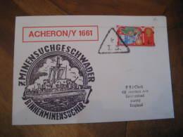 ACHERON / Y 1661 Cancel Cover ENGLAND - Ships