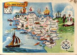 La Bretagne - Offert Par Le Lion Noir - Maps