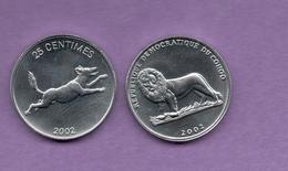 CONGO - 25 CENTIMES 2002 - Congo (Democratic Republic 1998)