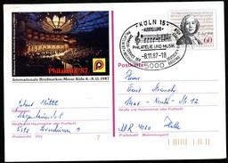 BUND PSo15 Sonderpostkarte CHRISTOPH WILLIBALD GLUCK Sost. 1987 - Postcards - Used