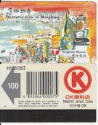 HONG KONG - Panoramic View Of Hong Kong/Victoria Harbour(reverse OK), Hong Kong Telecom Telecard $100, Used