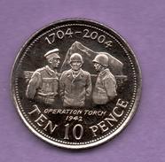 GIBRALTAR - 10 PENCE 2004 - Georgia