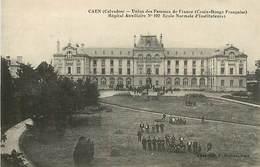 PIE-17-P.T.G.2163 : CAEN. HOPITAL TEMPORAIRE AUXILIAIRE N°102. UNION DES FEMMES DE FRANCE. CROIX ROUGE. - Saint Aubin