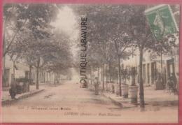 26 - LIVRON----Route Nationale---café--animé - Altri Comuni