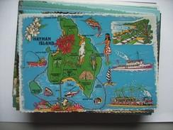 Australië Australia Queensland Map Hayman Island Great Barrier Reef - Great Barrier Reef