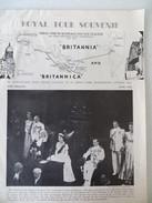 """ROYAL TOUR SOUVENIR June 1954 """"Britannica"""" Elizabeth II Bermuda Jamaica Fiji Tonga New Zealand Australia Tasmania Ceylon - Europe"""
