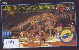 Télécarte Japon * DINOSAURUS * Dinosaurier *  * Dinosaur * Dino (1010) Phonecard Japan * TK * Skelet  Skeleton