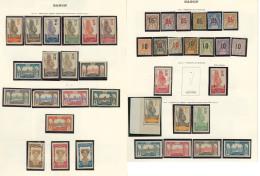 Collection. 1904-1966 (Poste, PA, Taxe), Des Valeurs Moyennes Et Séries Complètes, Des Doubles Obl Et Des