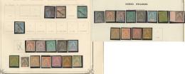 Collection. 1892-1893 (Poste), Diverses Valeurs Type Groupe Dont Qqs Ex Obl. - TB