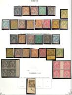 Collection. 1892-1894 (Poste, Taxe), Valeurs Et Séries Moyennes, Nombreux Doubles Obl. - TB, B Ou Pd
