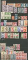 Lot. 1925-1954 (Poste), Valeurs Et Séries Diverses, Qqs Ex ** Ou Obl. - TB