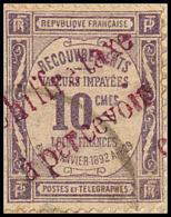Taxe. Oran. No 1, Obl Cad 21.1.18 Sur Petit Fragment. - TB
