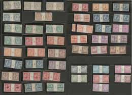 Collection. Millésimes. 1902-1928, Poste Entre Les N°19 Et 84, Taxe Entre Les N°2 Et 13, Tous En Paire Mi