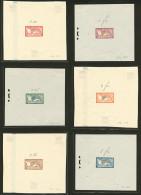 """Epreuves Sans Faciale. Merson. 5 épreuves Des N°29 à 33 + Le """"045"""" Vert-bleu (non émis), Superb"""