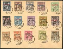Nos 1 à 18 (sauf 6, 8 Et 14), Sur Enveloppe Du 2 Mai 1902. - TB (cote Maury)