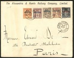 Nos 1 à 4 + 13, Sur Enveloppe Recommandée Du 3 Fév 1900, Pour Paris. - TB