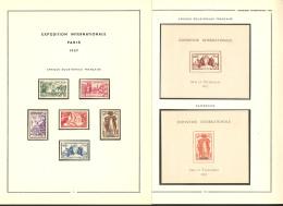 Exposition Paris 1937. La Série Complète, Poste Et BF. - TB