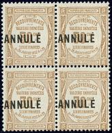 ANNULE. No 25, Bloc De Quatre. - TB