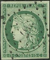 No 2c, vert foncé, obl pc 367 de Bercy, jolie pièce. - TB. - R