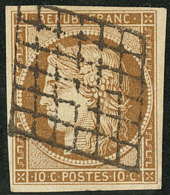 No 1b, bistre-brun foncé. - TB