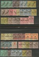 Collection. 1893-1903, Dont 14 Obl Et Nombreux Doubles, Qqs Ex Pd Ou Fortes Charnières. - TB